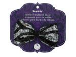 simplicity black/silver sequin bow headband accent