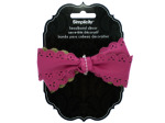 pink bow headband accent